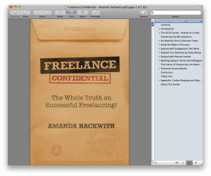 Freelance Confidential Amanda Hackwith 300x251 Freelance Confidential Review: The New Freelancing Book from Rockable Press