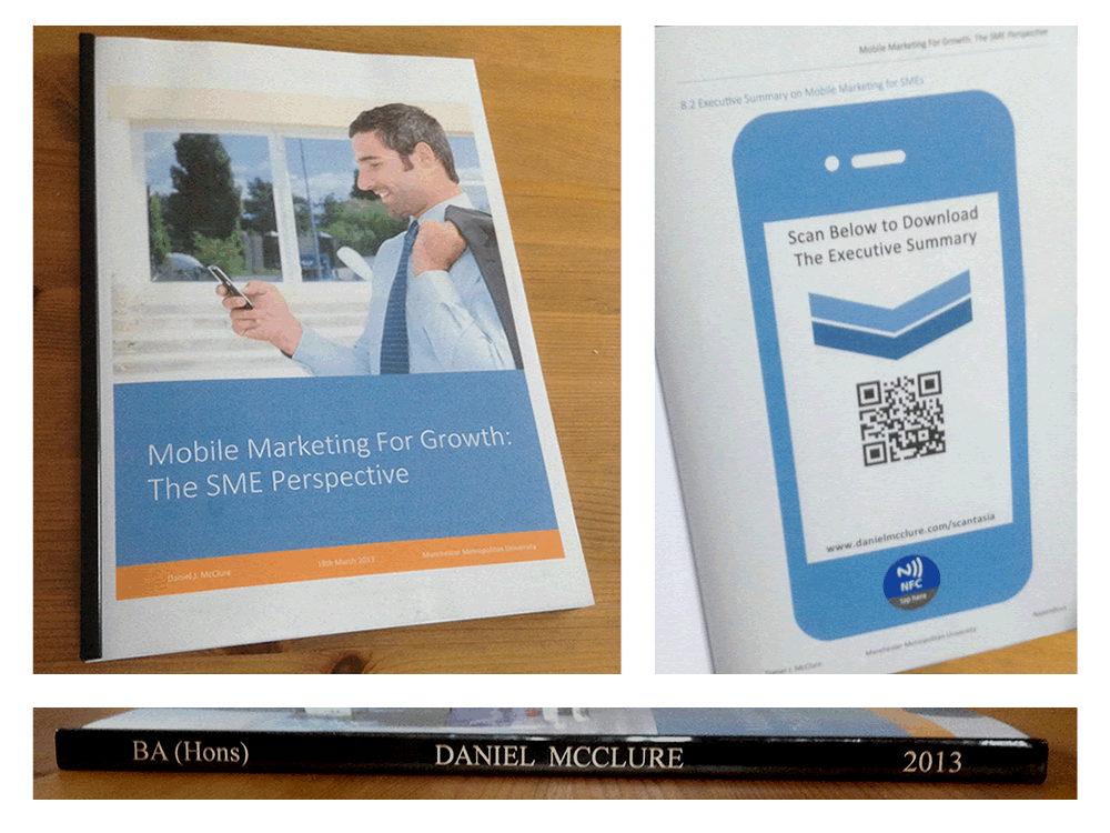 mobile marketing dissertation The First NFC Enabled Dissertation on Mobile Marketing