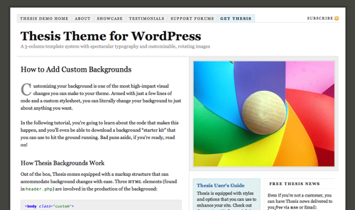 thesistheme Top Thesis Theme Resources for WordPress