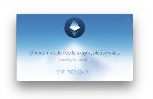 Ethereum Looking for Peers