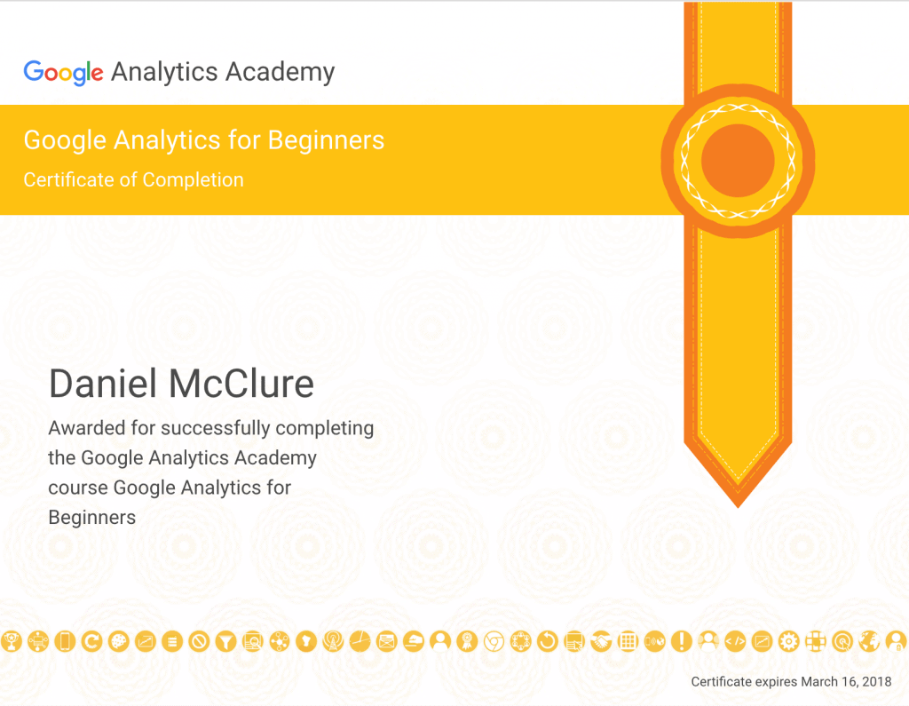 Google Analytics for Beginners Certificatie
