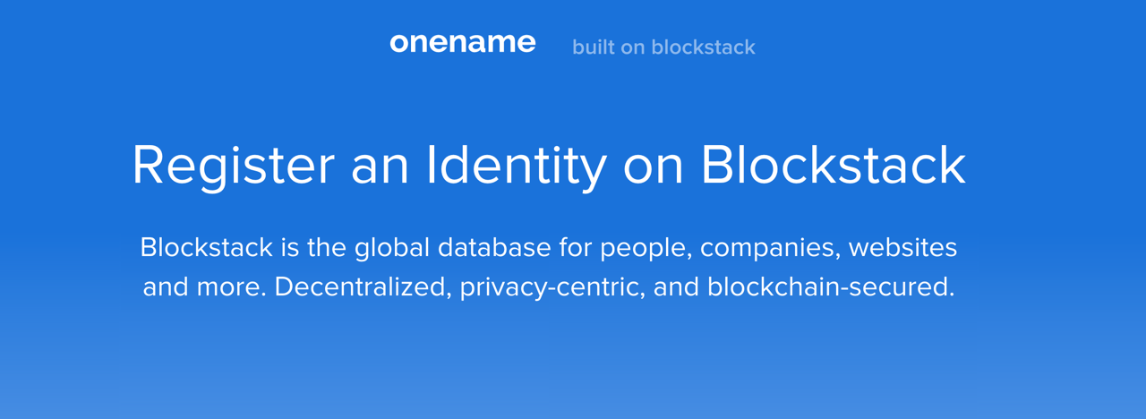 OneName: Your Profile on the Bitcoin Blockchain